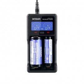 XTAR VC2 Plus Master USB Li-Ion Ni-MH Battery LCD Charger