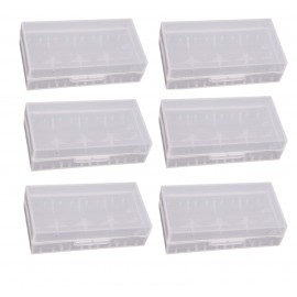 6 x Clear Battery Case for 18650 18490 18350 Batteries