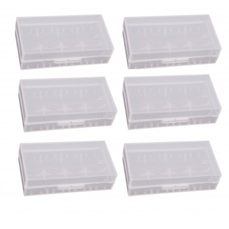 6 x Clear Battery Case for 2 x 18650 18490 Batteries