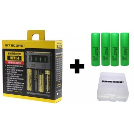 UK Nitecore New i4 2017 Intellicharge Battery Charger + 4x Samsung INR 25R