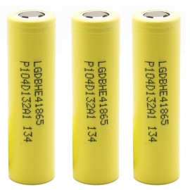 3x Genuine LG HE4 20a 2500mAh 3.7v IMR High Drain 18650 Batteries