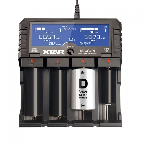 XTAR DRAGON VP4 PLUS Li-Ion Ni-MH Battery LCD Wall Charger