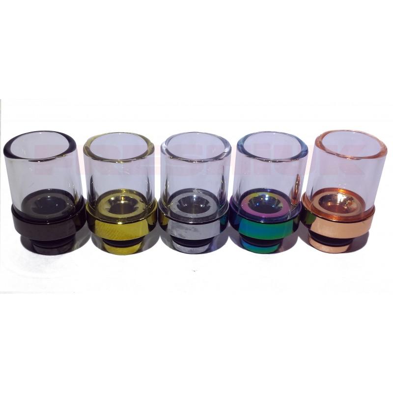 Aluminium Glass Hybrid Drip Tip Uk