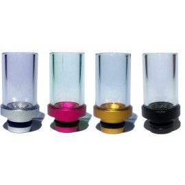 Tall Glass Drip Tip - 510 Fit - 4 Different Colours
