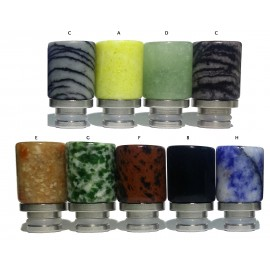 Jade Stone Hybrid Wide Bore 510 Drip Tips - 9 Different Designs - Precious Stone