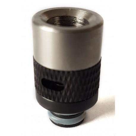 Hybrid Stainless Wide Bore 510 Drip Tip with Air Flow Band - 7 Colours