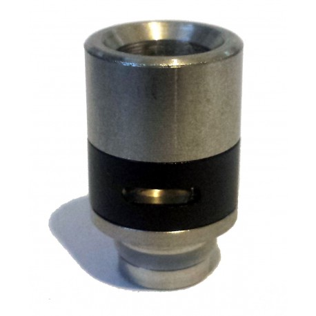 Hybrid Stainless Wide Bore 510 Drip Tip with Smooth Air Flow Band - 7 Colours