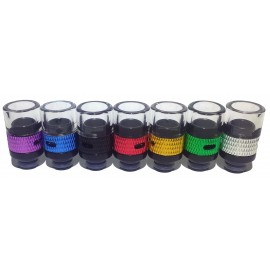 Glass Adjustable Air Flow Control Drip Tip - 510 Fit