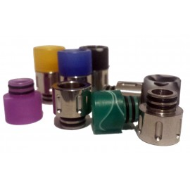 Stainless and Acrylic 2 Piece 510 Drip Tip