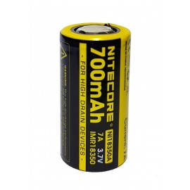 Nitecore NI18350A 18350 700mAh High Drain IMR Li-Mn 3.7v Rechargeable Battery