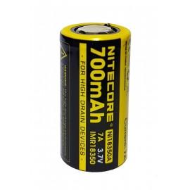 Nitecore NI18350A 18350 700mAh High Drain IMR Li-Mn 3.7v Rechargeable Battery