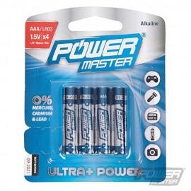 PowerMaster AAA Super Alkaline Battery LR03 4pk