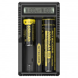 Nitecore UM20 - LCD Intelligent 18650 16340 18350 USB Vape Battery Charger
