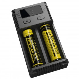 Nitecore NEW I2 - UK Model - Intelligent 18650 26650 18350 Vape Battery Charger