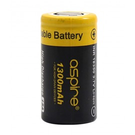 Aspire 18350 Battery (15A 1300mAh) High Drain Rechargeable Vape Battery