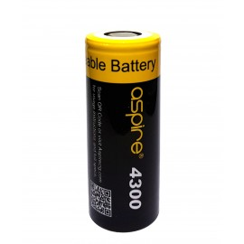 New Aspire 26650 Battery (40A 4300mAh) High Drain Rechargeable Vape Battery