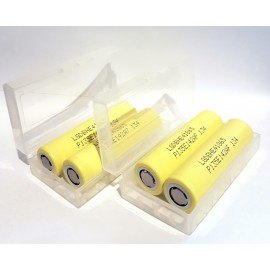 4x Genuine LG HE4 20a 2500mAh 3.7v IMR Batteries in Cases