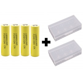 4x Genuine LG HE4 20a 2500mAh 3.7v IMR High Drain Rechargeable 18650 Batteries