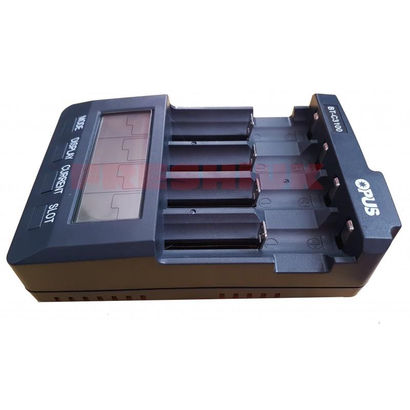 OPUS BT-C3100 LI-Ion Ni-Cd NiMh 4 Bay Battery Charger - 2017 UK Model