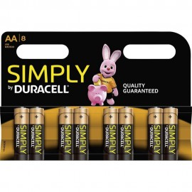Duracell Simply AA 4 Pack Alkaline 1.5v LR6 MN1500 - Quality Guaranteed