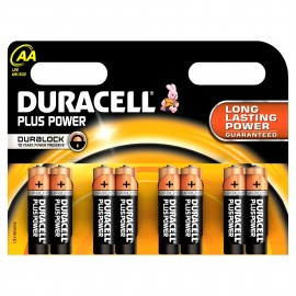 Duracell Plus Power Duralock AA 8 Pack Alkaline 1.5v LR06 MX1500 - Quality Guaranteed