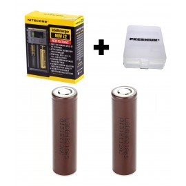 UK Nitecore New i2 2017 Intellicharge Vape Battery Charger + 2x LG HG2 18650 NEW