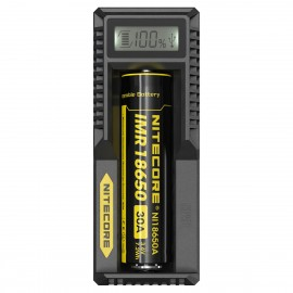 Nitecore UM10 - LCD Intelligent 18650 16340 18350 USB Battery Charger