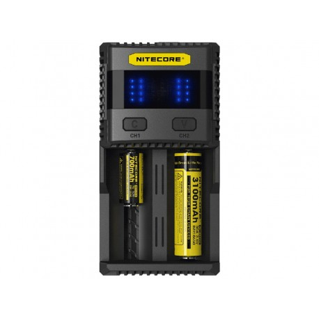 UK Nitecore SC2 3A 2016 Li-ion/IMR/LiFePO4/Ni-MH Intellicharge Battery Charger