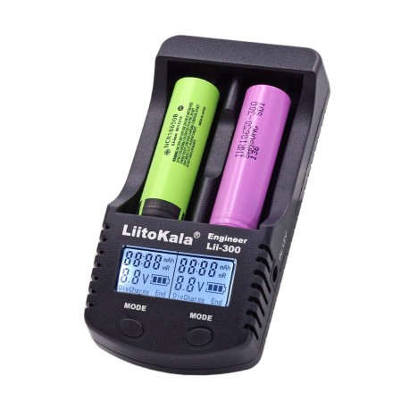 UK LiitoKala Engineer Lii-300 Intelligent 18650 26650 16340 18350 Battery Charger