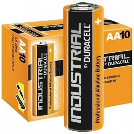 10 x aa duracell industrial batteries alkaline mn1500 lr6 aa battery. Black Bedroom Furniture Sets. Home Design Ideas