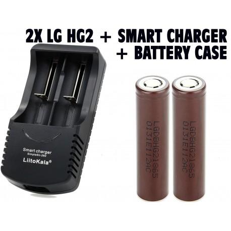2 x LG HG2 18650 3000mAh 30A High Drain IMR Rechargeable Li-on Battery  Genuine