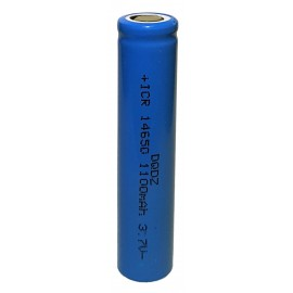 ICR 14650 1100mAh 3.7v Li-ion Rechargeable Flat Top Battery