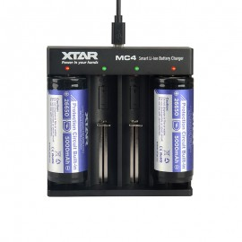XTAR MC4 USB Li-Ion Ni-MH 26650 20700 18650 Vape Battery Charger