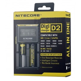 UK Nitecore D2 EU Dual Digital 18650 26650 20700 Vape Battery Charger