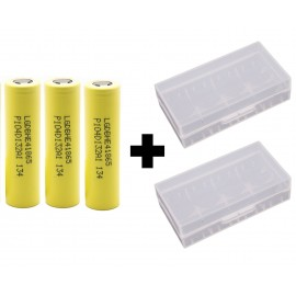 3 Pack Genuine LG HE4 20a 2500mAh 3.7v IMR High Drain 18650 Batteries