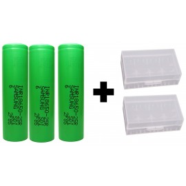 Authentic Samsung 25R 2500mAh 20A High Drain 18650 3.7v IMR INR Battery x 3 Pack