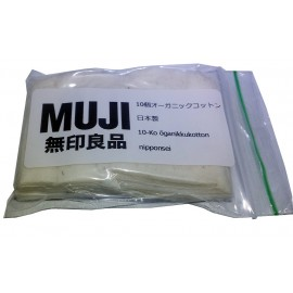10 Genuine MUJI Unbleached Untreated Japanese Organic Cotton Pads