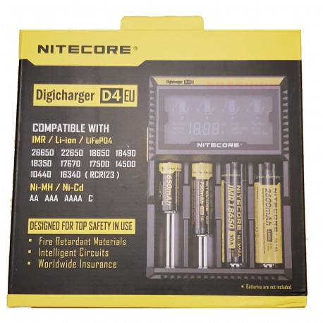 Nitecore D4 - 4 Bay Digital Intellicharger