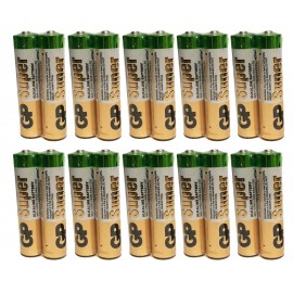 20X GP Super Alkaline Industrial AAA Batteries LR03 Battery Flash Torch