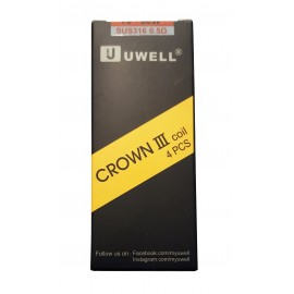 Genuine Uwell Crown 3 Tank Replacement Coils 4 Pack 0.5ohm