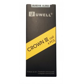 Genuine Uwell Crown 3 Tank Replacement Coils 4 Pack 0.25ohm