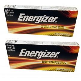 20x Energizer AAA Industrial Alkaline Batteries Long-Lasting 1.5V