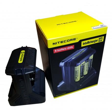 Nitecore i8 8BAY 2018 Intelligent 18650 26650 20700 16340 Vape Battery Charger