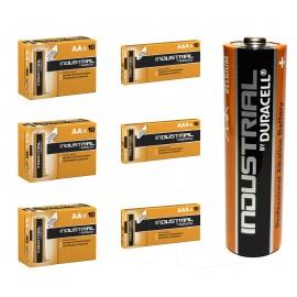 30 x AA + 30 x AAA Duracell Industrial Alkaline Batteries LR6, 2024 Expiry