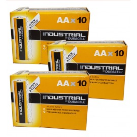 30x Duracell AA Industrial Procell Alkaline Batteries LR06, MN1500, Exp 2024