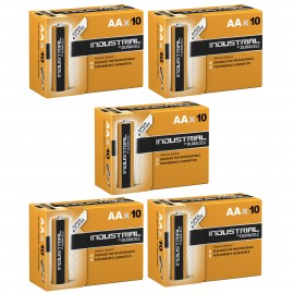 50 X Duracell AA Industrial Battery MN1500 Alkaline Replaces Procell Expiry 2024