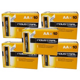 50x Duracell AA Industrial Procell Alkaline Batteries LR06, MN1500, Exp 2024