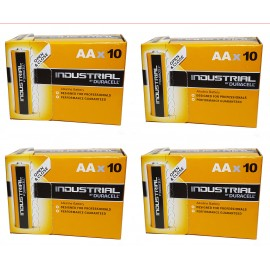 40x Duracell AA Industrial Procell Alkaline Batteries LR06, MN1500, Exp 2024