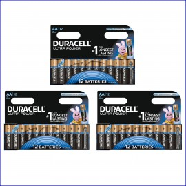 36x Duracell AA Ultra Power Alkaline Batteries Duralock LR6 MX1500 MN1500 MIGNON