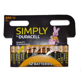 12X Duracell Simply AAA Batteries Alkaline 1.5v LR03 MN2400 - Quality Guaranteed